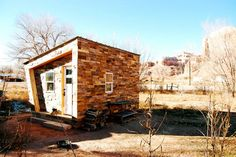 FOUNDHouse: a Charming Tiny WikiHouse Clad in Recycled Shipping Pallet Tiles