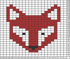 fair isle chart fox - Google Search                                                                                                                                                                                 More