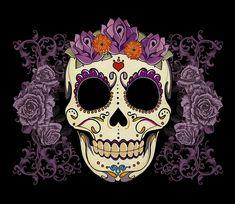 Vintage Sugar Skull And Roses