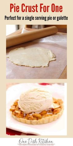 If youre cooking for one you may not want to bake a standard sized pie this single serving pie crust recipe is perfect to use when youre craving a pie for one. Buttery Pie Crust Recipe, Pie Crust Recipes, Pie Crusts, Mug Recipes, Gourmet Recipes, Dessert Recipes, Recipes For One, Freezer Recipes, Kitchen Recipes