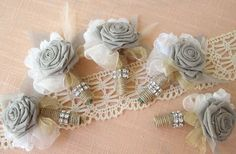 Love the burlap and lace handles around the flowers. #weddings