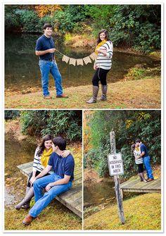 "Love the ""no kissing"" sign! Chota Falls Engagement | Cariad Photography | Borrowed & Bleu"