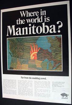 Manitoba Canada Tourism Vacations Promo 1969
