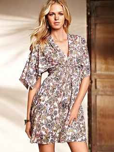 Love this print -Flutter-sleeve Dress #VictoriasSecret http://www.victoriassecret.com/clothing/summer-dresses/flutter-sleeve-dress?ProductID=114298=OLS?cm_mmc=pinterest-_-product-_-x-_-x