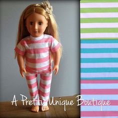 American Doll/18 in Spring Pajamas on Etsy, $22.00