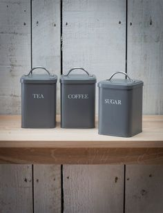 Canister Set in Charcoal