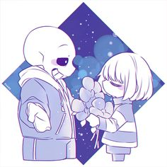 Sans and Frisk by ✧