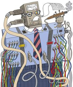 Robo Banker by Peter Arkle.