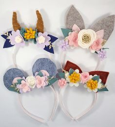 Woodland animal headband ear set