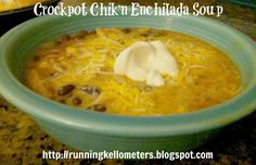 Crockpot Chik'n Enchilada Soup - A vegan dish.