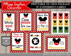 INSTANT DOWNLOAD Classic Mouse 5x7 Birthday by DivinePartyDesign