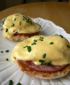 Eggs Benedict. I LOVE eggs Benedict. To bad no one else at my house will eat it.
