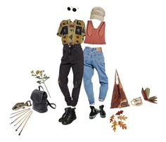 """""""a pair of fish"""" by its-emilyy ❤ liked on Polyvore featuring Dr. Martens, Converse, NOVICA, Crate and Barrel and Wild & Wolf"""