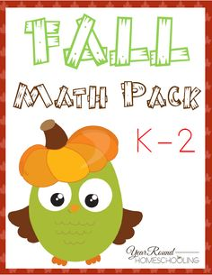 Free Fall Math Pack (K-2) - By Year Round Homeschooling