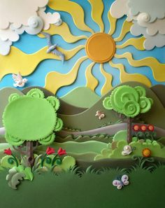 quiet book inspiration - I like the swirls as leaves and clouds - Paper Art by Brazilian artist Carlos Meiras 3d Paper Art, Paper Artwork, Paper Artist, Paper Paper, Felt Crafts, Diy And Crafts, Crafts For Kids, Paper Crafts, Paper Cutting