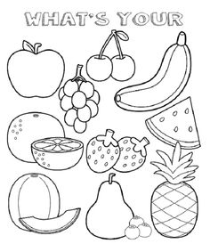 Fruit Coloring Pages With Faces
