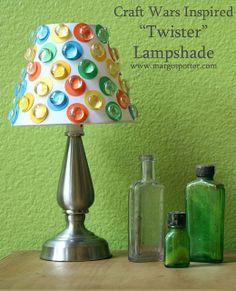 Margot Potter: DIY decor  Twister inspired lampshade