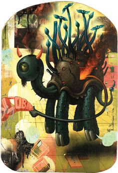 Jeff Soto - Turtle God - Signed fine art litho print - Limited to 500 only