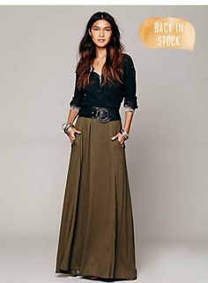 long skirt, pockets (neeed.)