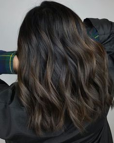 Dark Brown Hair with Barely There Highlights