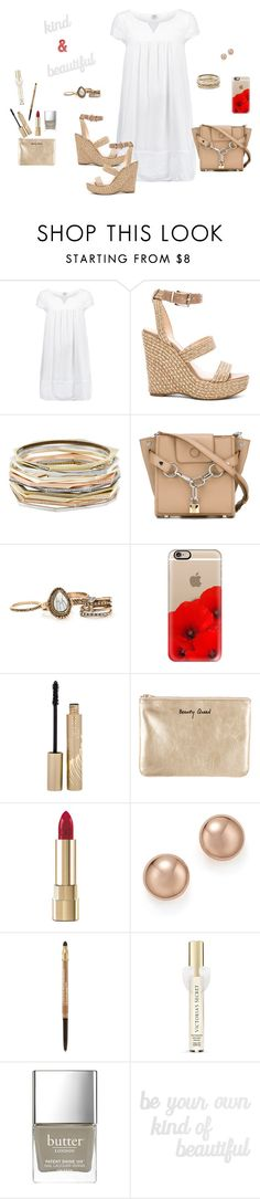 """""""Kind and Beautiful"""" by picassogirl ❤ liked on Polyvore featuring Saint Tropez, Vince Camuto, Kendra Scott, Alexander Wang, Casetify, Stila, Rebecca Minkoff, Dolce&Gabbana, Bloomingdale's and Lancôme"""