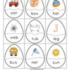 Free! CVC Words and Picture Eggs matchup