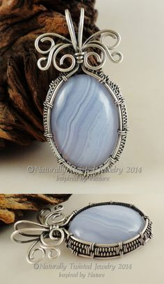 Blue Lace Agate in Sterling Silver