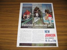 1961 Print Ad Johnson Sea-Horse Outboard Motors 10, 5.5, 3 HP #MagazineAd