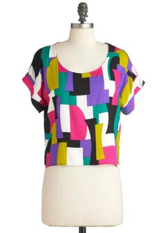 Block to Square One Top, #ModCloth