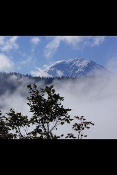 Mt Rainier morning mists 8/31/2012