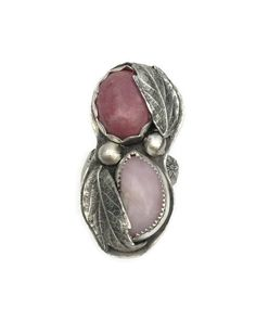 Hey, I found this really awesome Etsy listing at https://www.etsy.com/listing/237884832/pink-opal-and-rhodochrosite-ring-silver