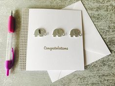 Congratulations Card Baby Shower Card New Baby Handmade