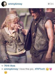"Emily & Norman after the Season 5 mid-season finale ""Coda"". Norman was very upset"