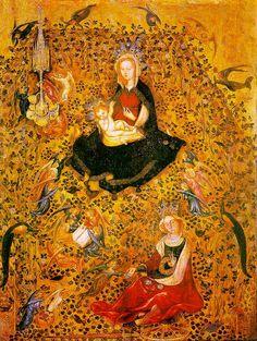 """PEACOCK'S GARDEN: Stefano da Verona """"Madonna in the Rosary"""" 1410"""