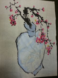 Korean Brush Painting - (11) Apricot (소현의 매화 사군자) Japanese Watercolor, Japanese Painting, Korean Painting, Chinese Painting, Amaryllis, Chinese Brush, Mark Making, Calligraphy Art, Asian Art