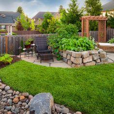 Mini raised rock garden bed - www.paradiserestored.com