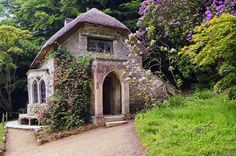 Cottage in the woods at Stourhead Estate Gardens in Wiltshire, England  by Craig !, via Flickr