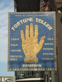 Fortune Teller sign in the French Quarter in New Orleans