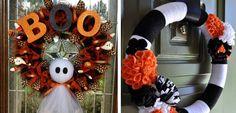 Ideas para hacer guirnaldas de Halloween - http://www.decoora.com/ideas-guirnaldas-halloween/