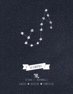 Scorpio Constellation - tattoo idea