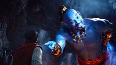 Mena Massoud and Will Smith in Disney's live-action adaptation ALADDIN, Courtesy of Walt Disney Pictures. Directed by: Guy Ritchie Star… Genie Aladdin, Aladdin Et Jasmine, Aladdin Live, Watch Aladdin, Aladdin Cast, Disney Jasmine, Disney Live, Film Disney, Disney S