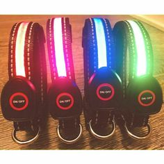 Nylon USB Recargable Collar con Luz LED Ajustable Luminoso para Perro Mascota - Mascotas - Ideas of Mascotas Pink Dog Collars, Pet Collars, Led Dog Collar, Ideal Toys, Dog Safety, Usb, Luz Led, Dog Harness, Dog Supplies