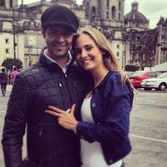 Actor Pablo Montero and his wife