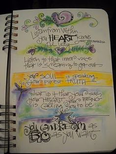 Art Journal Page (Joanne Sharpe)  Even a touch of color is smashing