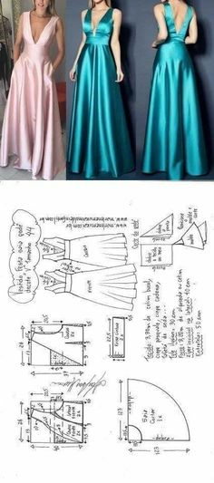 Amazing Sewing Patterns Clone Your Clothes Ideas. Enchanting Sewing Patterns Clone Your Clothes Ideas. Formal Dress Patterns, Dress Sewing Patterns, Clothing Patterns, Pattern Dress, Diy Clothing, Sewing Clothes, Fashion Sewing, Diy Fashion, Robe Diy
