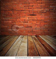 Old brick and raw wood