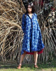 Indigo Swing Dress I Shop at :http://www.thesecretlabel.com/khara-kapas