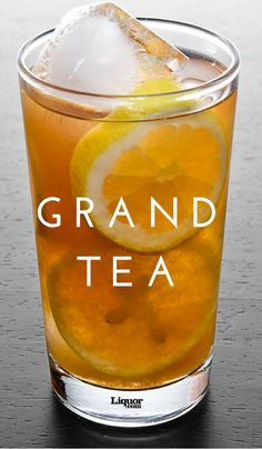 In this recipe, Grand Marnier is what spikes your favorite summertime iced tea. You& wish that it was always tea time. Summer Drinks, Fun Drinks, Alcoholic Drinks, Beverages, Tea Cocktails, Cocktail Recipes, Glace Fruit, Grand Marnier, Gran Marnier Drinks