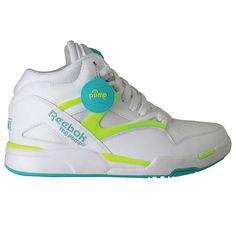 #Reebok Pump Omni Light Timeless Teal/White/Solar Yellow #sneakers