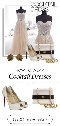 """Pretty Sweetheart Cocktail Dress"" by cocomelodydress on Polyvore featuring Chanel and Christian Louboutin"